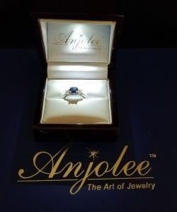 Anjolee MS271-A-Gem sapphire 3 gem ring in box