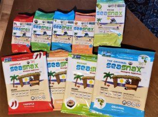 seasnax sheets korean seaweed snack