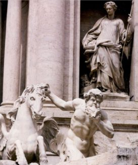 a detail of the Trevi Fountain photo by Suzanne Lane
