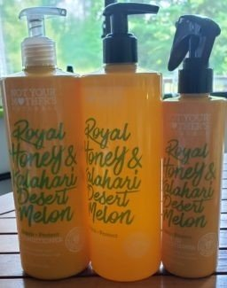 not your mother's royal honey and kalahari desert ,elon hair care trio photo by alison blackman for advicesisters.com