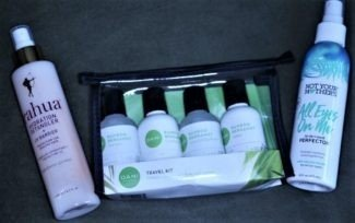 trio of hair care products