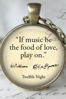 if music be the food of love play on stock photo of pendant